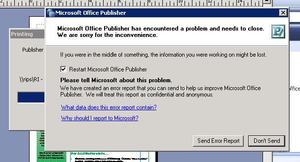 error received