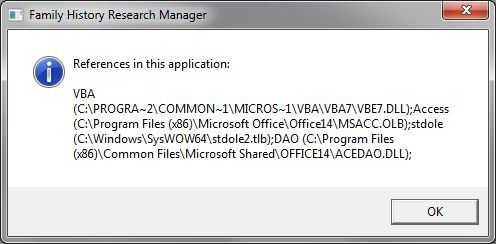 Requested type library or wizard is not a VBA project