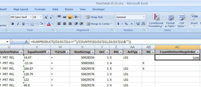 Excel Function Works