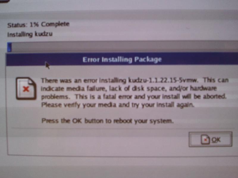 Upgrade Fails