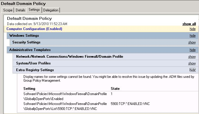 Updating the adm files used by group policy