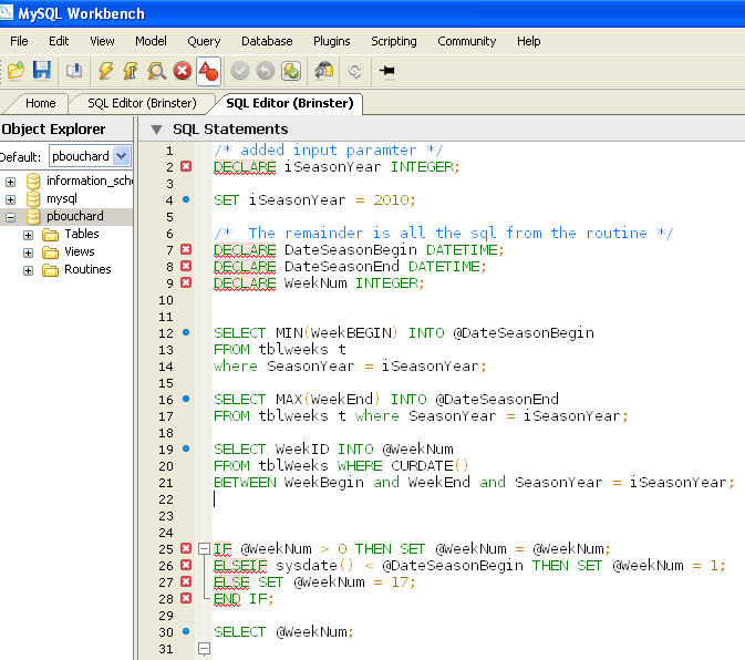 snapshot of editor window