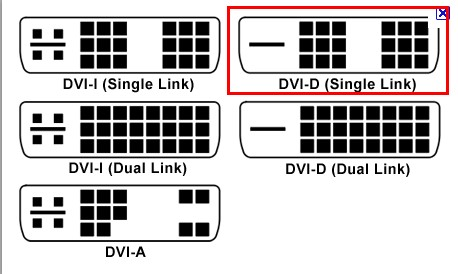 DVI-D-Single-Link
