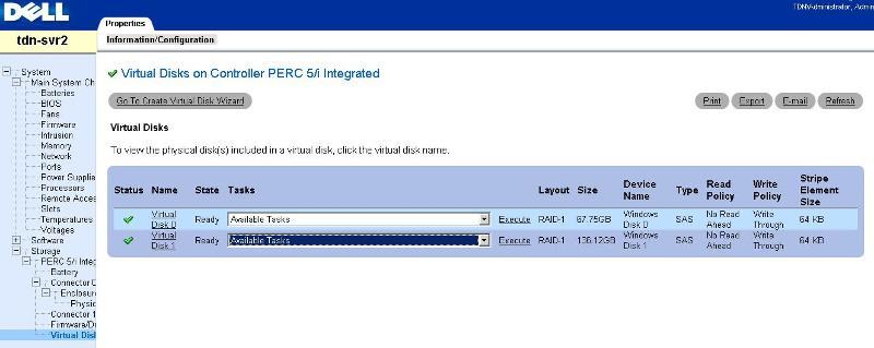 Virtual disk details