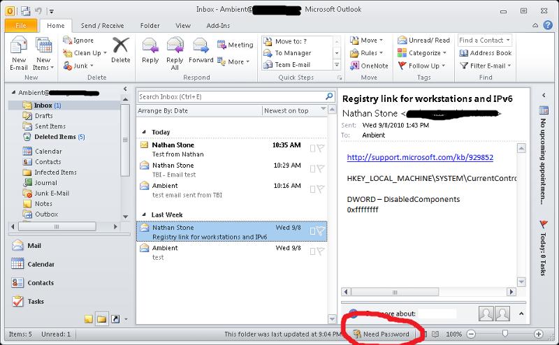 Screenshot #1 - Outlook