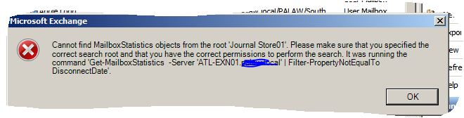 journal error