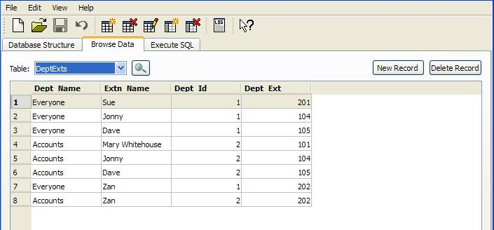 Screen grab of SQlite table I'd like to sort.