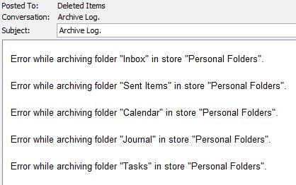 Archive Log