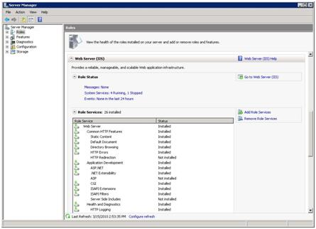 Windows 2008 Server Manager