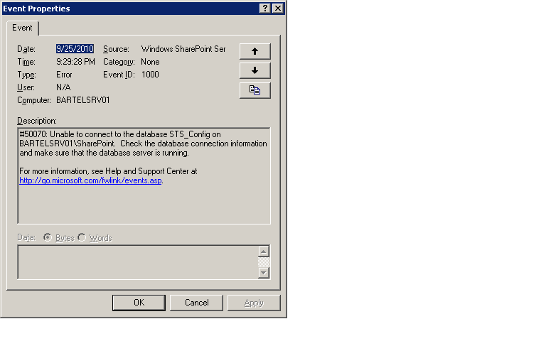 How can I disable SharePoint on my Windows Server 2003 for