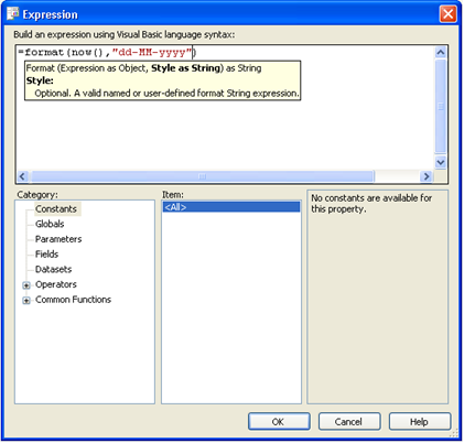 expression editor with intellisense