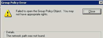 Error when accessing GPEdit