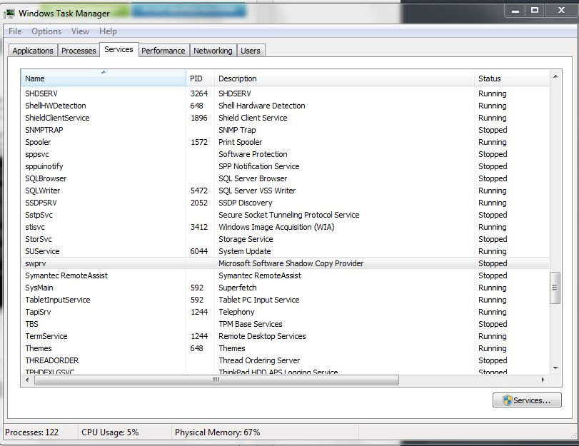 Can't create system restore points in 64-bit Windows 7