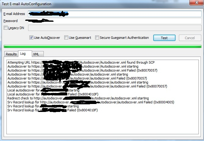 Autodiscover in Outlook 2010 connected to exchange 2010