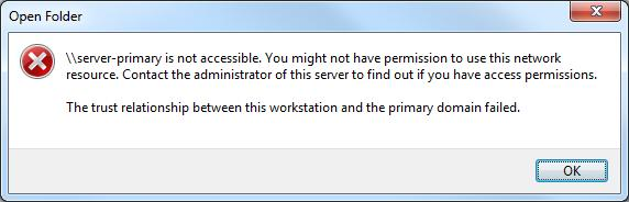 Error code for accessing the server