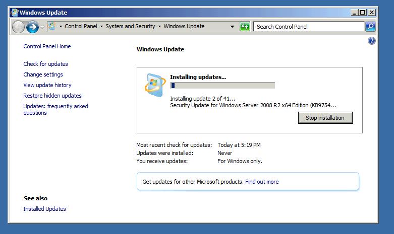 update screen shot