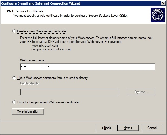 Web Server Certificate