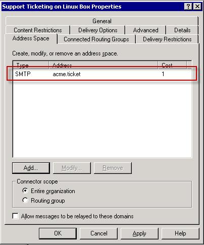 Create SMTP send connector - step 3.