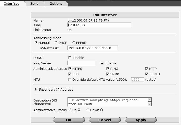 DMZ2 Configuration