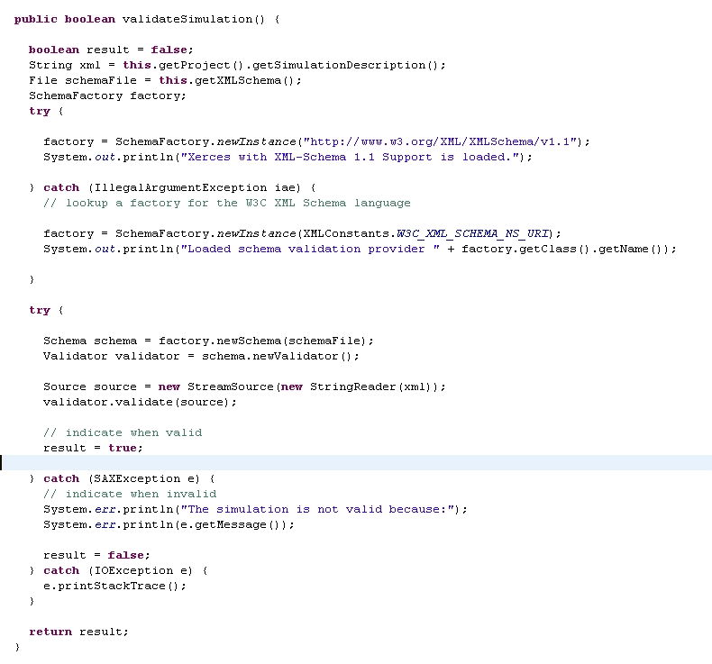 method for validating xml file