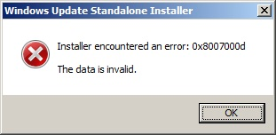 RSAT installation error