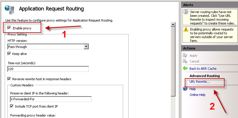Simple ARR routing - step 4