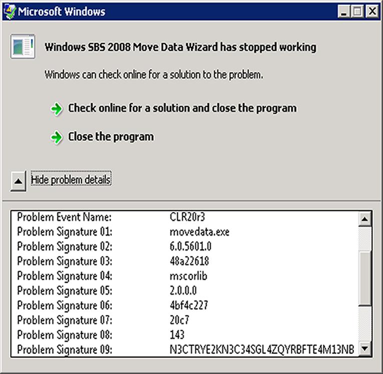 Movedata error