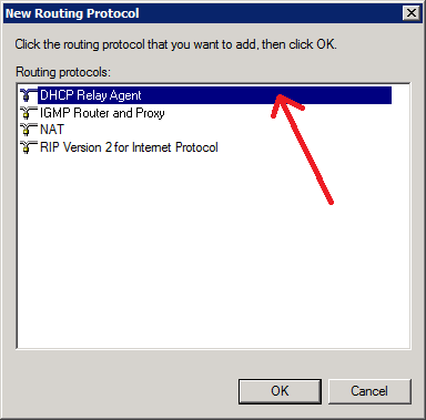 3. Add DHCP Relay protocole