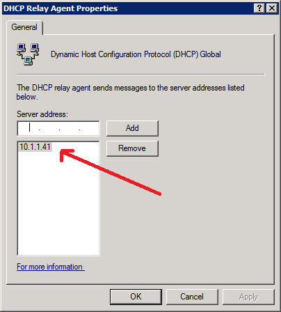 5. Write your internal DHCP address