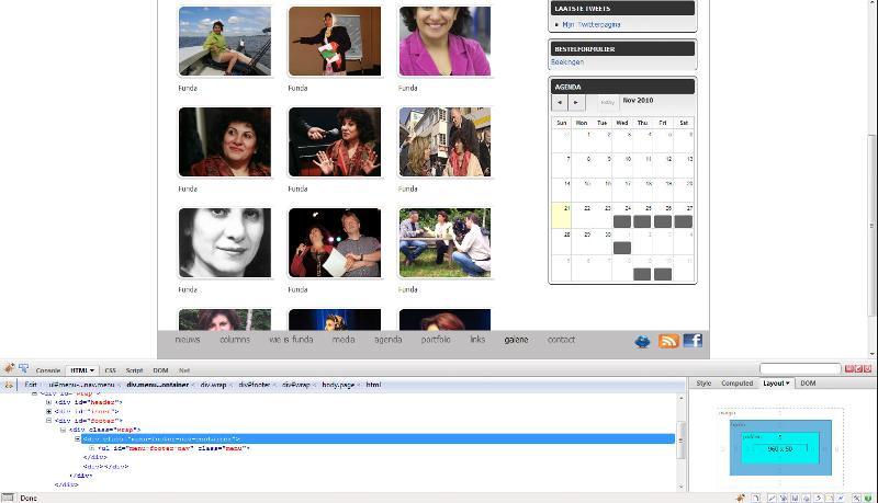 Screen shot of site.