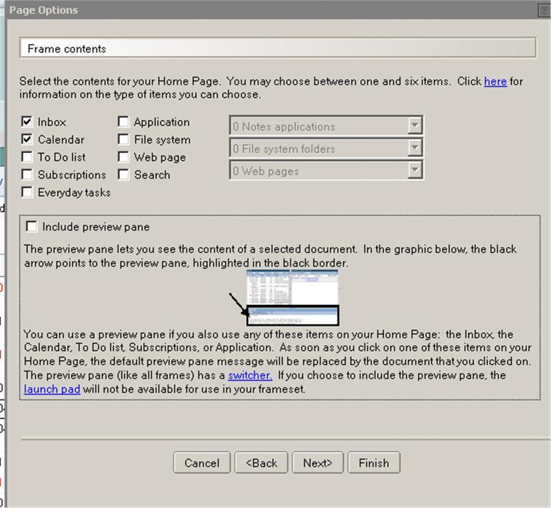print screen of homepage settings