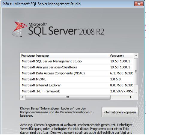 SQL version