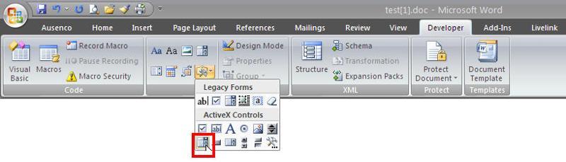 Combo Box descriptor