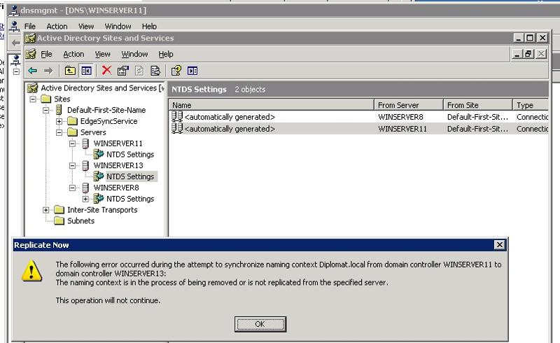 AD Replication Winserver11