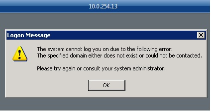 RDP error Winserver13