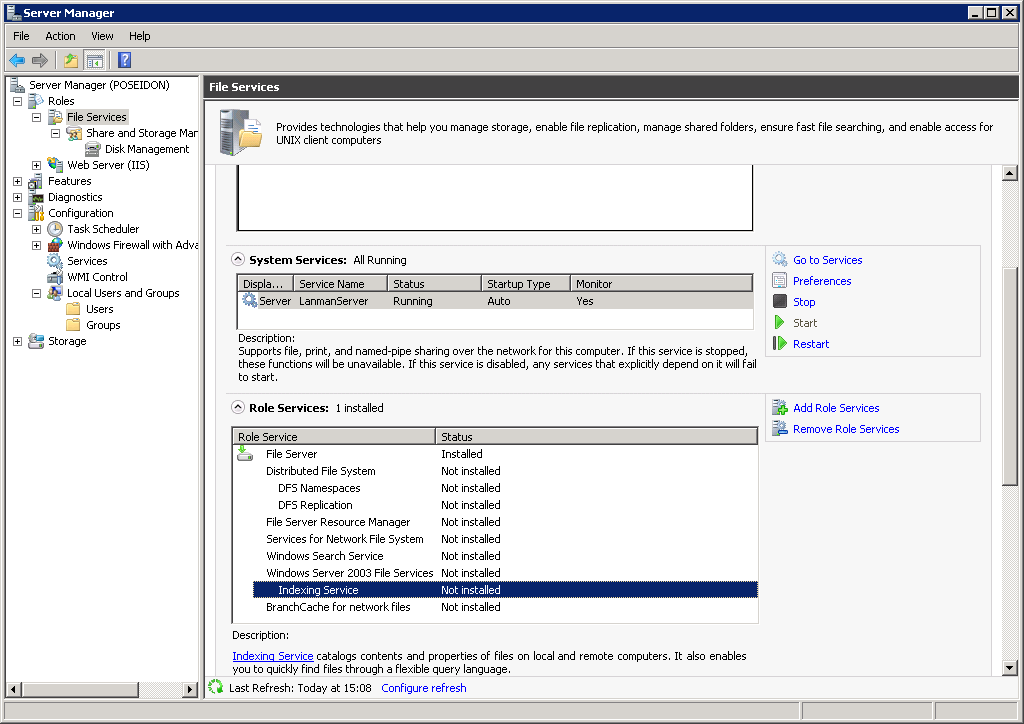 Windows Server 2008 Indexing Service Performance
