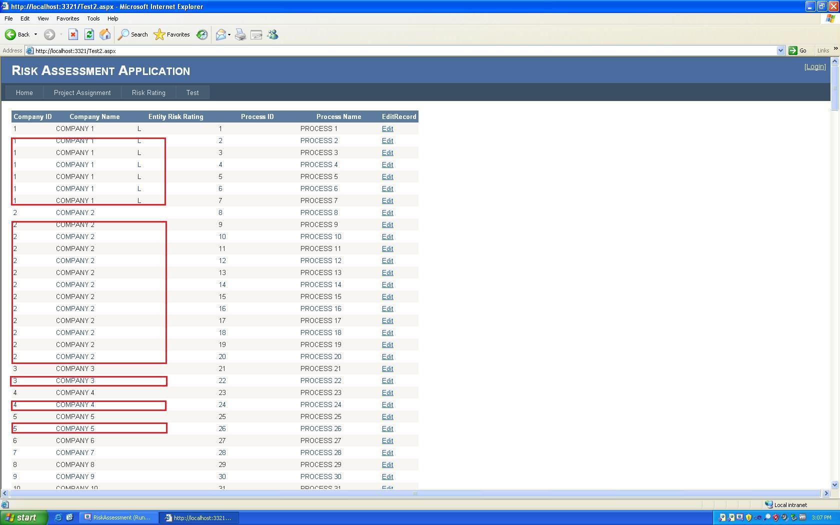 C# ASP NET GridView Duplicate Data