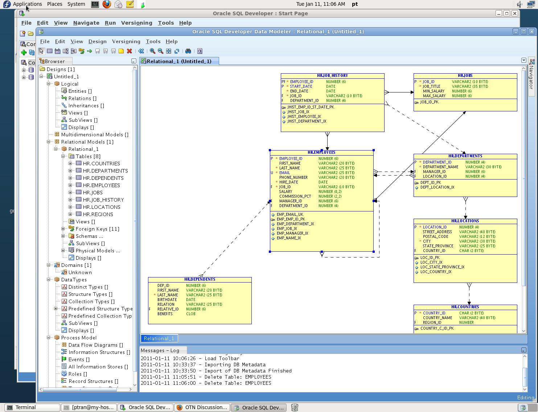 Does Oracle SQL Developer have something similar to Microsoft SQL SERVER's SHOW DIAGRAM PANE to ...