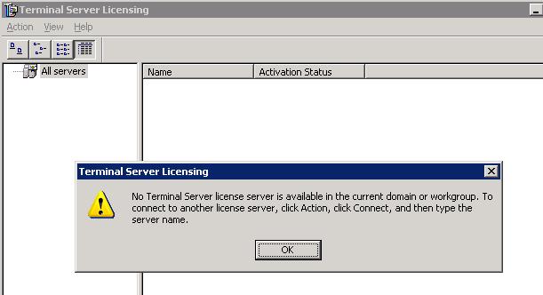 No server found