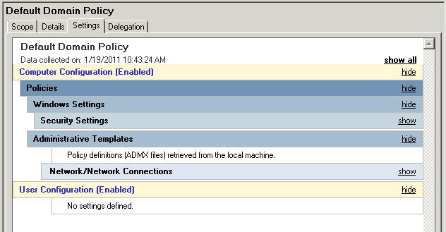 Policy definitions (ADMX files) retreived from the local machine