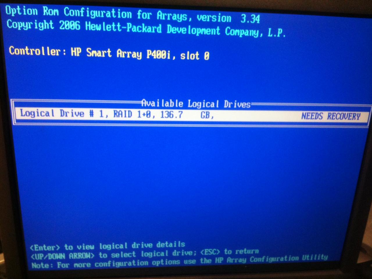 HP Proliant DL360G5 Rebuilding Process