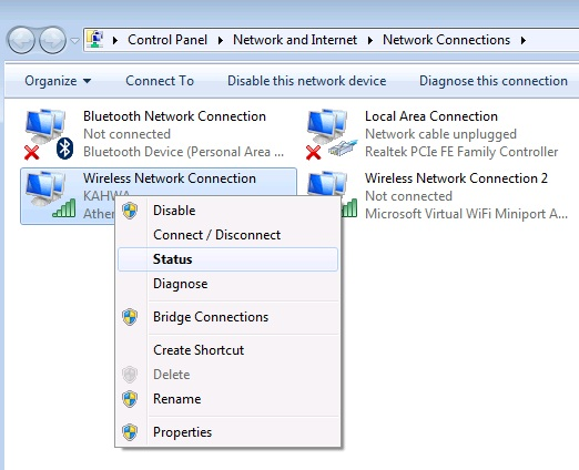 network connections 2