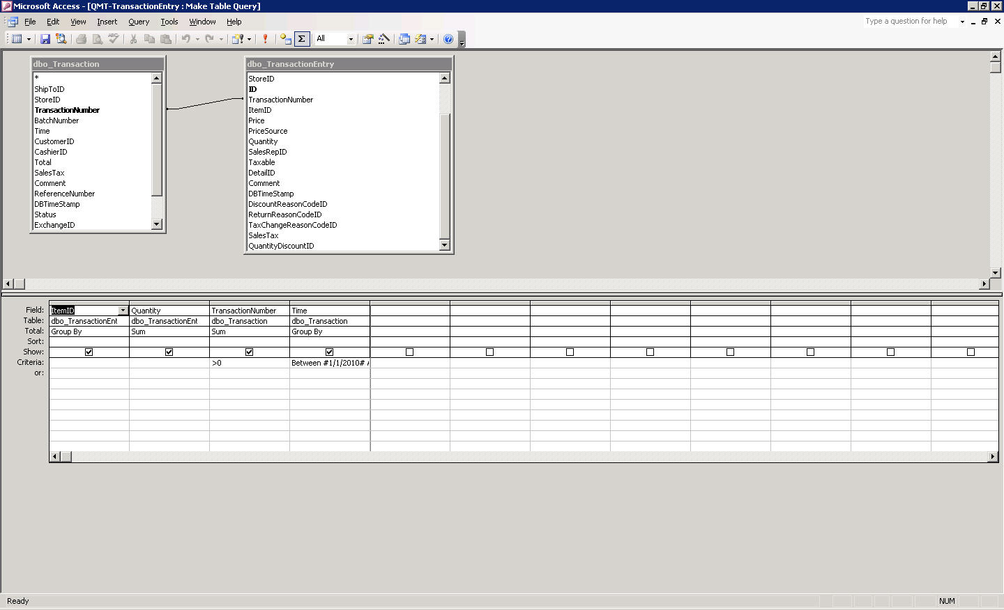 How do use group by in ms access 2003