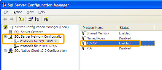 SQL Server TCP/IP Enabled