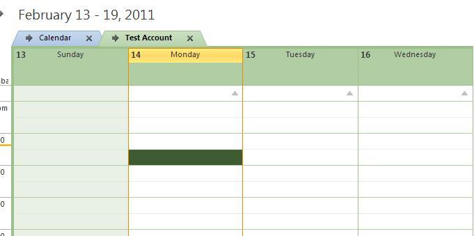 Multiple calendar overlay view