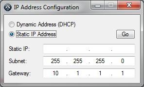 Change IP Address using Run As