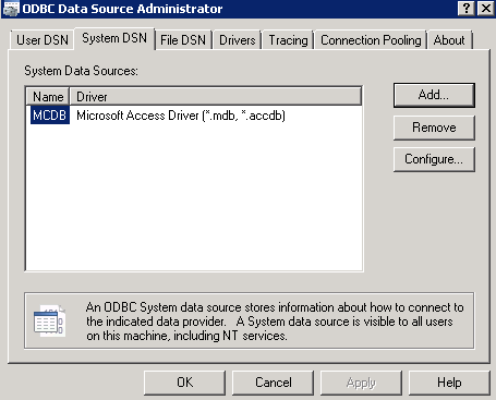 System Data Source