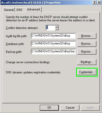 DHCP credentials