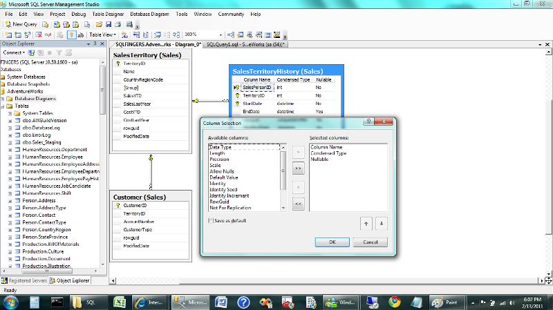 Database Diagram example