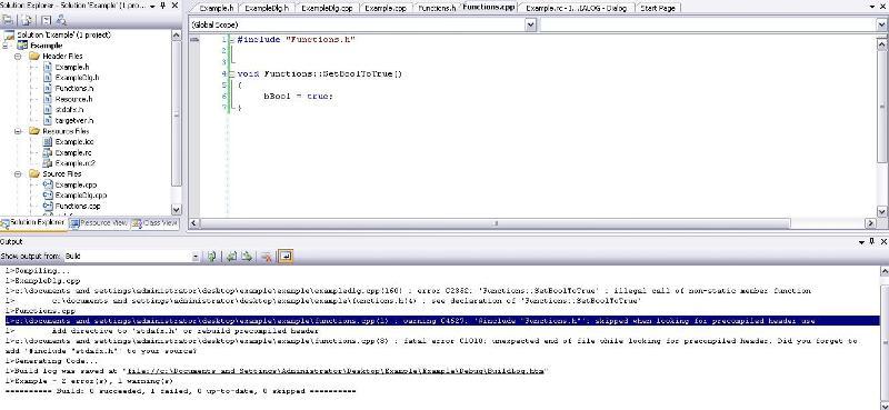 error msgs